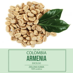 Zielona kawa Colombia Excelso 1000 g.